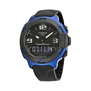 ティソ Tissot 腕時計 メンズ 時計 Tissot Men's T0814209705700 T-Race Touch Black and Blue Analog-Digital Watch