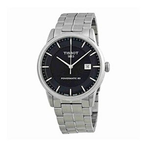 ティソ Tissot 腕時計 メンズ 時計 Tissot T-Classic Powermatic 80 Automatic Black Dial Stainless Steel Mens...