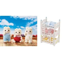 シルバニアファミリー 人形 ブタ 三つ子 3段ベッド Calico Critters Oinks Pig Piglets Triplets and Triple Baby Bunk Beds