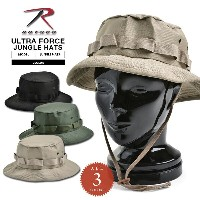 15%OFF大特価!★ROTHCO ロスコ ULTRA FORCE ジャングルハット SOLID ミリタリーハット ブーニーハット BOONIE HAT メンズ