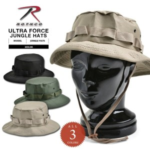 ROTHCO ロスコ ULTRA FORCE ジャングルハット SOLID ミリタリーハット ブーニーハット BOONIE HAT メンズ