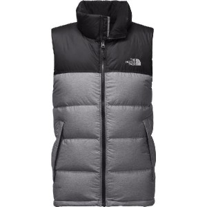 (取寄)ノースフェイス メンズ ヌプシ ダウン ベスト The North Face Men's Nuptse Down Vest Tnf Medium Grey Heather/Tnf Black