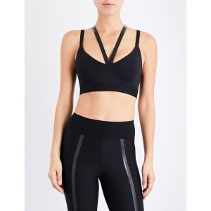 ウルトラコー ultracor レディース インナー・下着 ブラジャー【rhombus stretch-jersey sports bra】Black/patent black