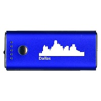 Dallas, テキサス-Portable Cell Phone 5200 mAh Power Bank Charger-ブルー 「汎用品」(海外取寄せ品)