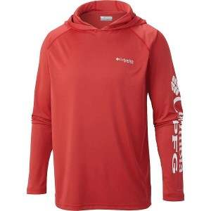 コロンビア メンズ トップス パーカー【Columbia Terminal Tackle Hoodie】Sunset Red / White