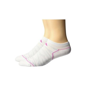 アディダス レディース インナー・下着 ソックス【Superlite Prime Mesh 2-Pack No Show Socks】White/Mono Pink/Clear Grey