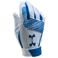 アンダーアーマー メンズ 野球 グローブ【Under Armour Clean-up Batting Gloves】Royal/White/Royal