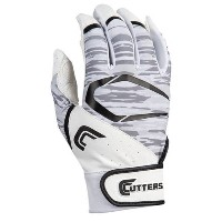 カッターズ メンズ 野球 グローブ【Cutters Power Control 2.0 Batting Gloves】White/Black