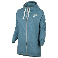 ナイキ レディース トップス パーカー【Nike Gym Classic Full Zip Hoodie】Cerulean Heather/Sail