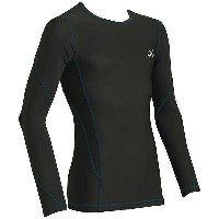 CW-X メンズ カットソー トップス CW-X Men's Long Sleeve Traxter Top Black