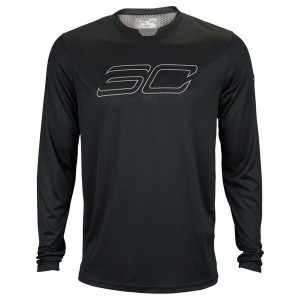 アンダーアーマー メンズ Tシャツ トップス Men's Under Armour SC30 Threadborne L/S Top Black/Graphite