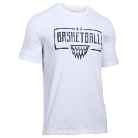 アンダーアーマー メンズ Tシャツ トップス Men's Under Armour Basketball Wordmark T-Shirt White/Black