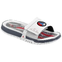 ジョーダン メンズ サンダル シューズ Men's Jordan Hydro 8 Slide White/Varsity Red/Neutral Grey