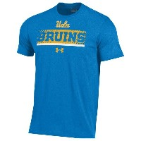 アンダーアーマー メンズ Tシャツ トップス Men's Under Armour College Charged Cotton Stripe T-Shirt Powder Keg