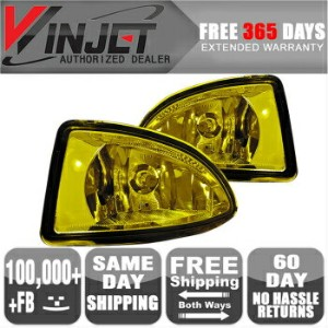 Honda Civic フォグライト 04-05 Honda Civic 2 4Dr OE Fog Lights Lamps Yellow Wiring Kit Included 含ま04...