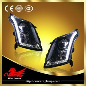 クライスラー キャデラック ヘッドライト For 2010-2014 Cadillac SRX Headlights With Bi-xenon Projector And LED DRL...