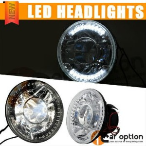 Jaguar XJS ヘッドライト Fits: Round H4 Bulbs 5 3 4 Inch 5.75 Inch Clear LED Projector Headlights 適合車種...