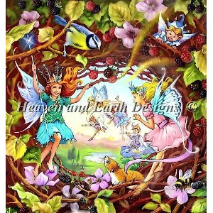 【DM便対応】Heaven And Earth Designs(HAED)クロスステッチ Peering in to Fairyland チャート John Patience 刺しゅう 図案 妖精...