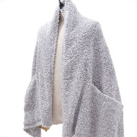BAREFOOT DREAMS for Ron Herman (ベアフットドリームス ロンハーマン) HEATHERED TRAVEL SHAWL (ショール) OCEAN/OYSTER/WHITE...