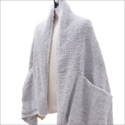 BAREFOOT DREAMS for Ron Herman ベアフットドリームス ロンハーマン HEATHERED TRAVEL SHAWL ショール OCEAN OYSTER WHITE...