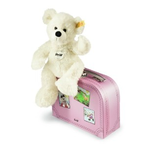 Steiff Lotte Teddy Bear In Suitcase, White by Steiff