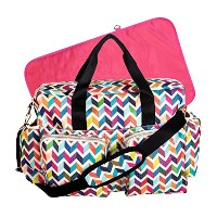 French Bull Ziggy Multi-Colored Chevron Deluxe Duffle Diaper Bag by Trend Lab