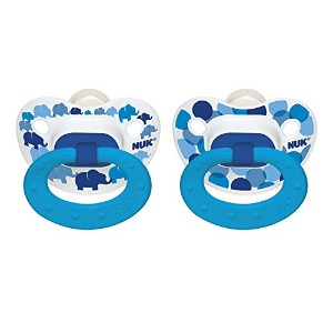 NUK Blue Bubbles and Elephants Puller Pacifier, 6-18 Months by NUK