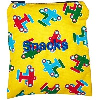 Caught Ya Lookin' Snack Bag, Planes, Yellow/Red/Blue, One Size by Caught Ya Lookin'