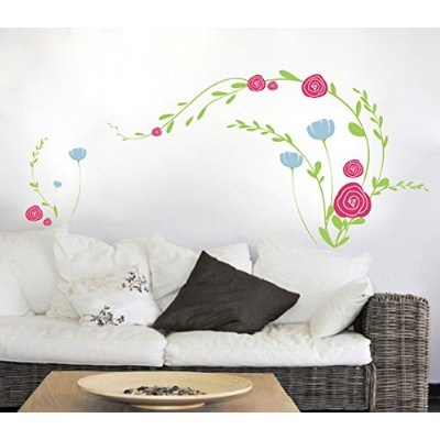 Pop Decors PT-0038-Va Beautiful Wall Decal, Little Flowers by Pop Decors