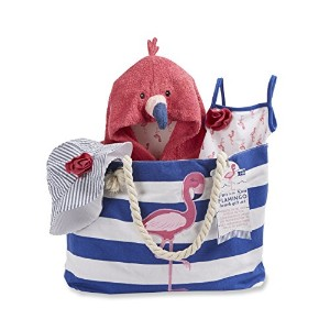 Baby Aspen Flamingo 4 Piece Nautical Gift Set with Canvas Tote for Mom by Baby Aspen