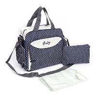 Premium Quality Antibacterial Waterproof Diaper Tote Bag with Nappy Changing Pad , Straps and Small...