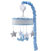 Zutano Elefant Blau Musical Mobile, White/Blue/Grey by Zutano