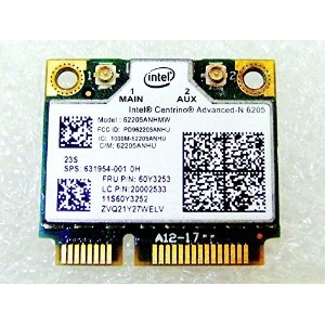 Replacement for HP Laptop 631954-001 Intel 6205 62205AN HMW Half Mini PCIe PCI-express Wifi...