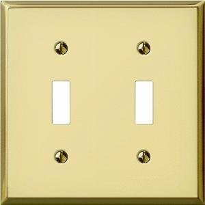 Polished Brass Stamped Switch Wall Plate-BRS 2-TOGGLE WALL PLATE (並行輸入品)