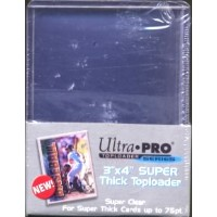 "#81347 ULTRA PRO 3""x4"" TOP SUPER THICK TOPLOADER"