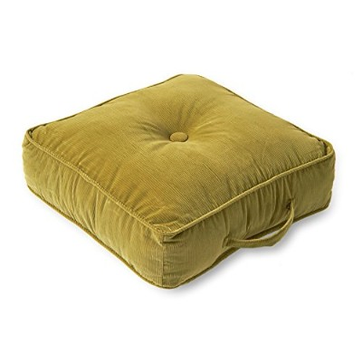 Greendale Home Fashions 5183 Olive 20 in. Square Floor Pillow- Omaha-Amigo fabric- Olive.