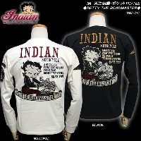 INDIAN MOTOCYCLEインディアン・モトサイクルBETTY BOOPベティー・ブープ◆IM 天竺刺繍・ポケットロンTEE◆◆BETTY THE ROADMASTER◆BBI-711