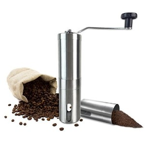 Manual Coffee Grinder with Ceramic Burr - High Quality Hand Coffee Burr Hand Coffee Mill with...