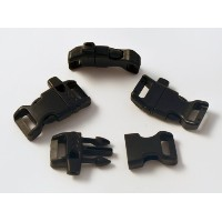 100 CURVED Whistle Buckles 1/2 (13mm), Black, Great for Paracord Bracelets. Emergency. by Perpetual...
