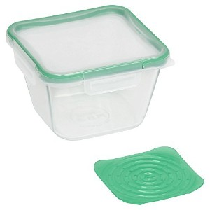 Pyrex 11203206.5Cup Square Pyrex ®ストレージW /グリーンProduce Keeper