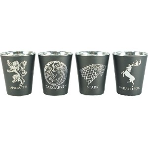 Game of Thrones House Sigilショットガラスセット( Set of 4 )
