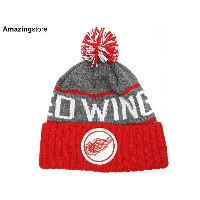 MITCHELL&NESS DETROIT RED WINGS 【CUFFED KNIT BEANIE/BLK-RED】 ミッチェル&ネス デトロイト レッドウィングス ニット帽 ビーニー [帽子...
