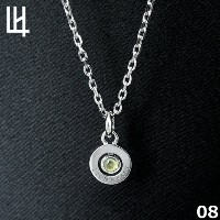 LION HEART PASSAGE OF TIME - Birth Color Stone 8月 Color of Peridot (ライム) シルバーネックレス 01NE075108...