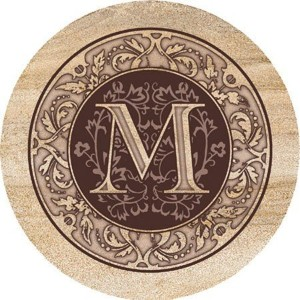 Thirstystone Monogram M Coasters [並行輸入品]