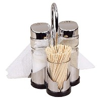 Salt & Pepper Shakers with Toothpick、ナプキンホルダーセット、8.26 CM