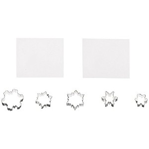 Country Kitchen Snowflake Cookie Cutter Texture Set [並行輸入品]