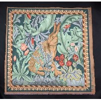 【ART de LYS】 William Morris 8770D LIEVRE TETE A DROITE ゴブラン織りパネル生地L (約50×50cm) 【あす楽】【HLS_DU】