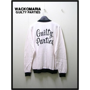 S WHITE/BLACK 【WACKO MARIA [ワコマリア] COTTON SILK KNIT CARDIGAN (Guilty Parties) ニットカーディガン】13SS-KNT-09