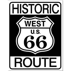 【RT.66 ティン サイン RT.66 HISTRIC RT.66 MS1036】ROUTE66 ルート66 ブリキ 看板 USA 直輸入