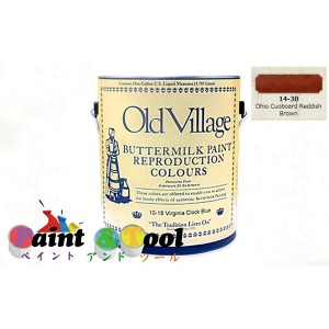 バターミルクペイント(水性)Buttermilk Paint 473ml Ohio Cuoboard Reddish Brown【Old Village】